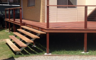 Deck on a house in Clontarf